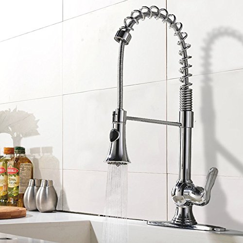 ufaucet modern high arch stainless steel plumbing spiral single