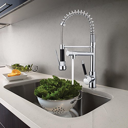 MAGIC UNION Pull Down Kitchen Sink Faucet Two Spout Swivel Mixer ...