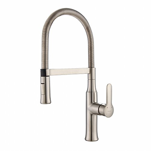 Kraus KPF-1640SS Modern Nola Single Lever Flex Commercial Style Kitchen Faucet, Stainless Steel