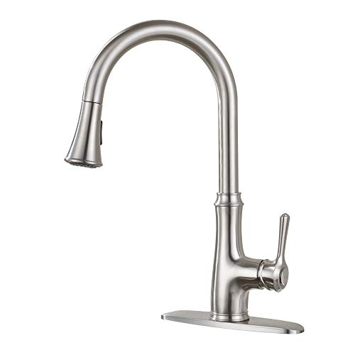 Modern Design Single Handle Pull Down High Arc Kitchen Faucet